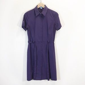Baia Shirt Dress Shortsleeve Size 2 Small Purple